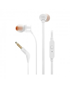 JBL AUDIF - T110 WHITE IN-EAR ONE BUTTON REMOTE