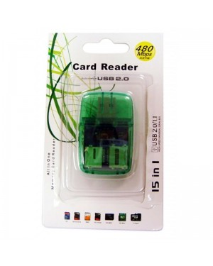 LECTOR DE MEMORIAS USB 2.0 480MPS SD-TF-MS-M2