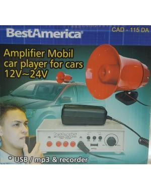 B.AMERICA AMPLIFICADOR MOVIL 20W 12V-24V CAD-115DA