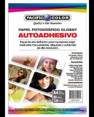 P. COLOR PAPEL FOTOGRAFICO AUTOADHESIVO 120GR X 20 HOJAS