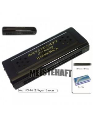 MEISTEHAFT ARMONICA 16 VOCES NEGRA MAT-160