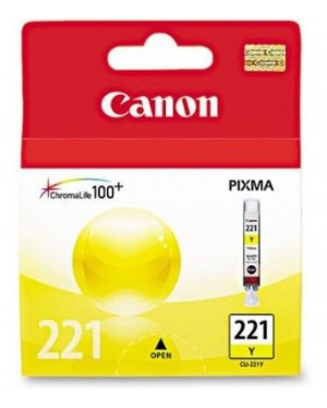 CANON CARTRIDGE CLI-221YELLOW P/IP3600/46004700MP540/MP560/MP620/MP630/MP640/MP980/MP993