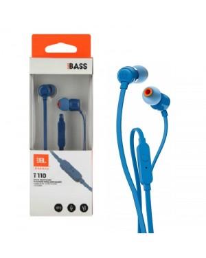 JBL AUDIF - T110 BLUE IN - EAR ONE BUTTON REMOTE
